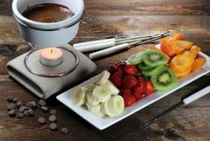 Fondue-Set-Schokoladenfondue