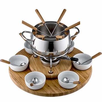 Edelstahl Fondue Set von Style-n cook 18cm