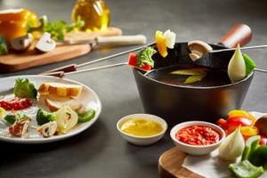 Vegetarisches Fondue für Gemüse Fondue-Liebhaber